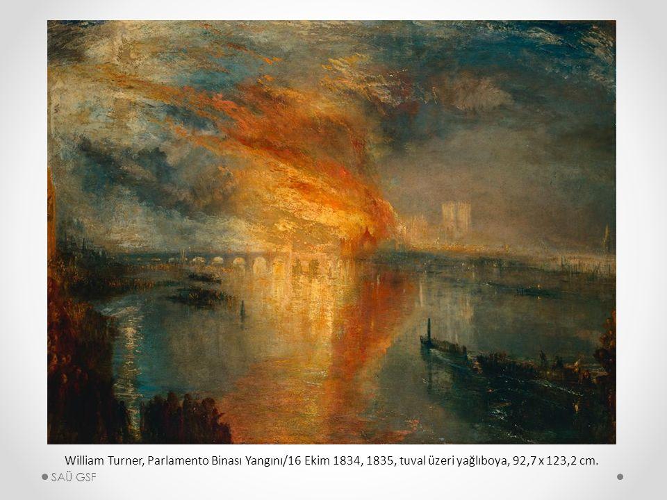 William Turner, Parlamento Binası Yangını/16 Ekim 1834, 1835, tuval üzeri yağlıboya, 92,7 x 123,2 cm.