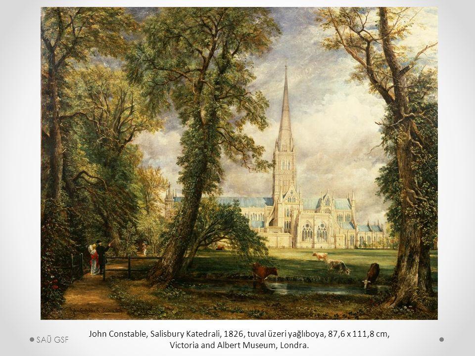 John Constable, Salisbury Katedrali, 1826, tuval üzeri yağlıboya, 87,6 x 111,8 cm, Victoria and Albert Museum, Londra.