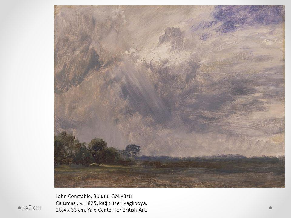 John Constable, Bulutlu Gökyüzü Çalışması, y.