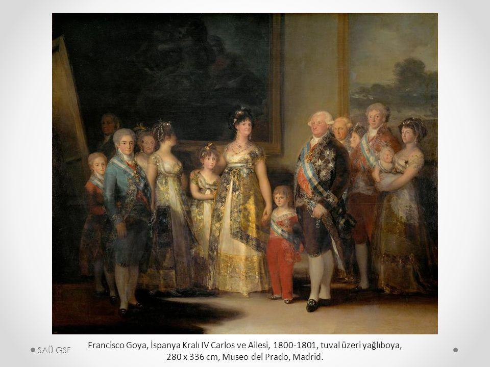Francisco Goya, İspanya Kralı IV Carlos ve Ailesi, 1800-1801, tuval üzeri yağlıboya, 280 x 336 cm, Museo del Prado, Madrid.