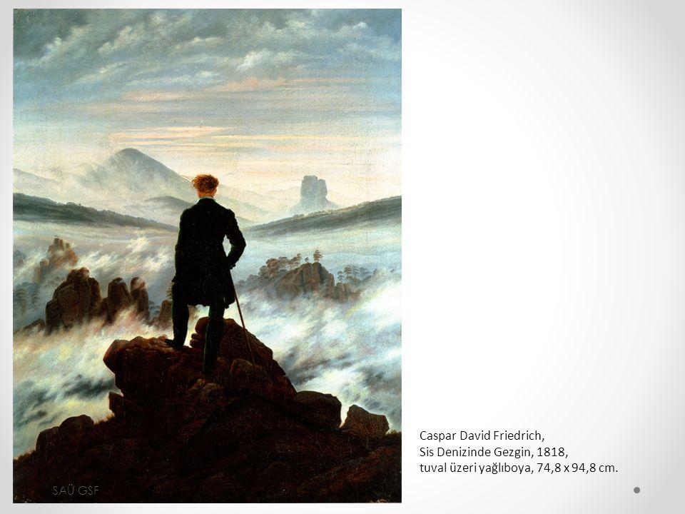 Caspar David Friedrich, Sis Denizinde Gezgin, 1818, tuval üzeri yağlıboya, 74,8 x 94,8 cm. SAÜ GSF