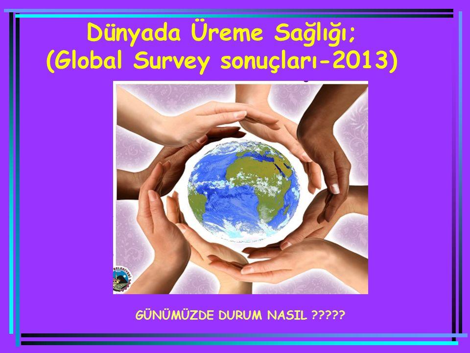 Dünyada Üreme Sağlığı; (Global Survey sonuçları-2013) GÜNÜMÜZDE DURUM NASIL ?????