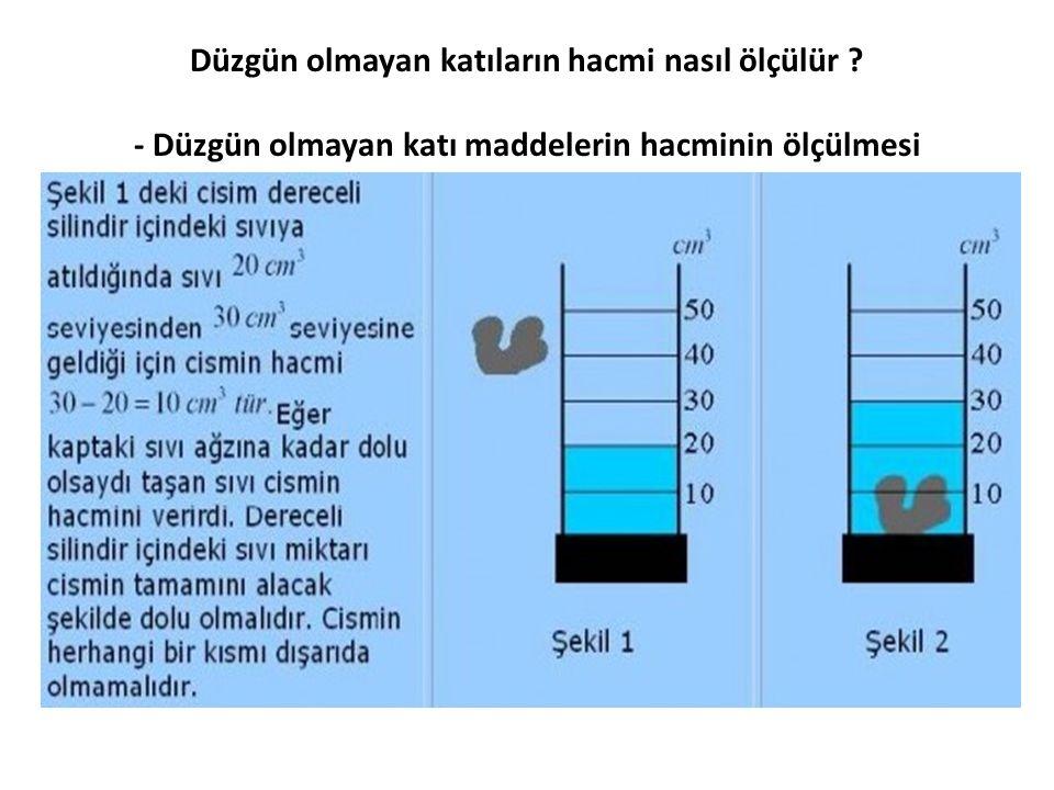 Düzgün olmayan katıların hacmi nasıl ölçülür ? - Düzgün olmayan katı maddelerin hacminin ölçülmesi