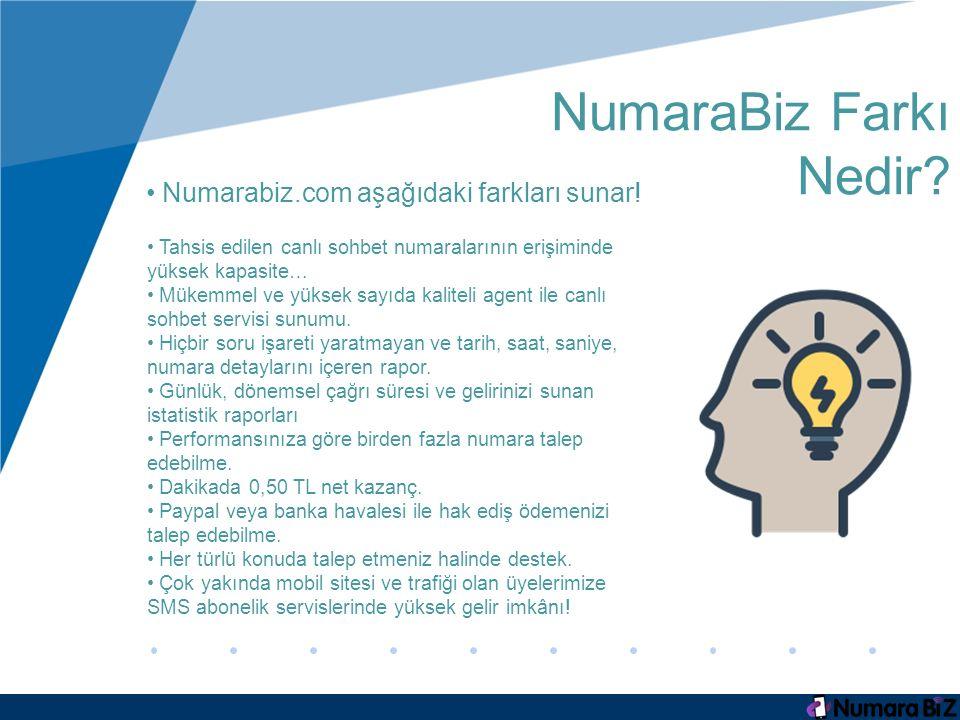 NumaraBiz Farkı Nedir.Numarabiz.com aşağıdaki farkları sunar.