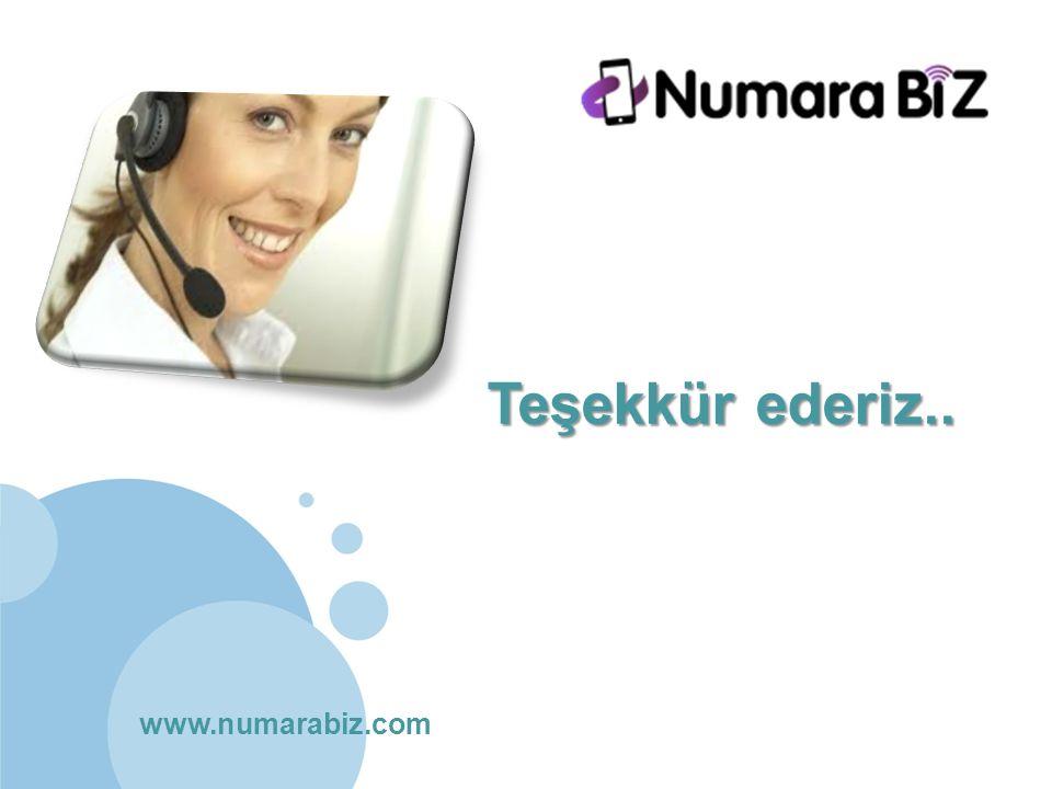 www.numarabiz.com Teşekkür ederiz..