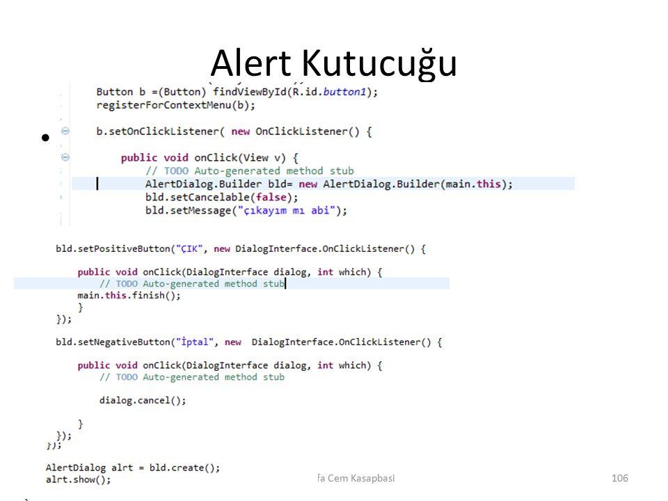 Alert Kutucuğu m Dr. Mustafa Cem Kasapbasi106