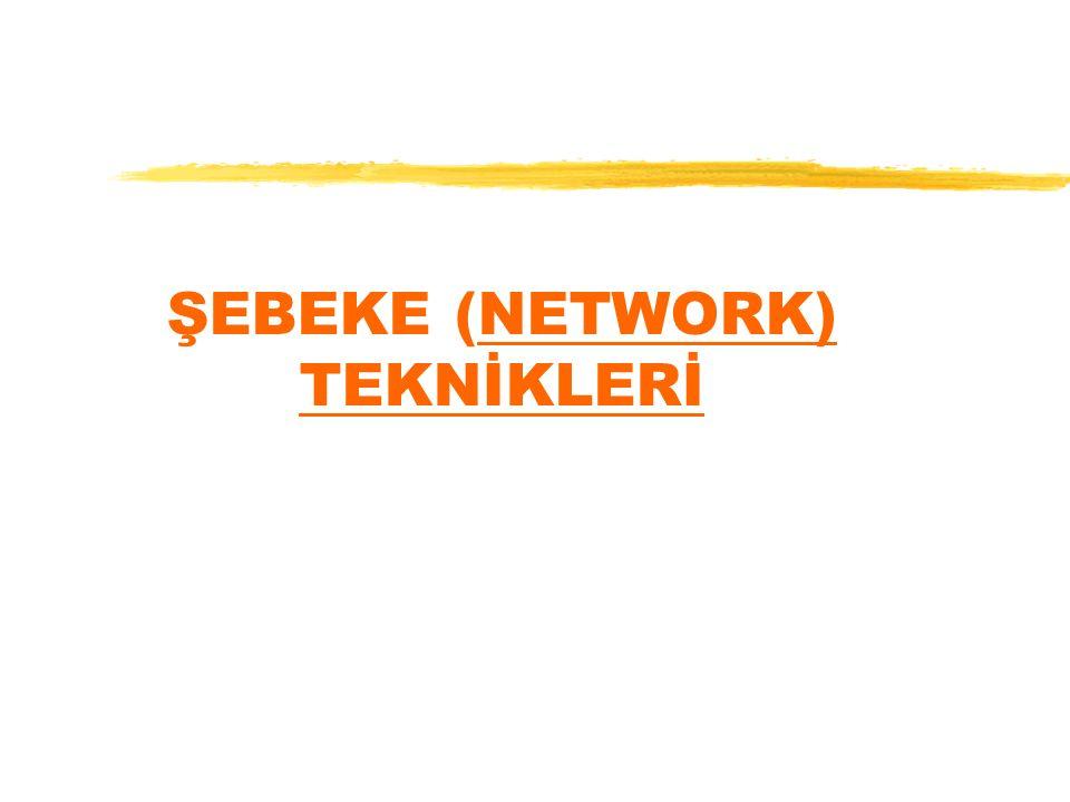 ŞEBEKE (NETWORK) TEKNİKLERİ
