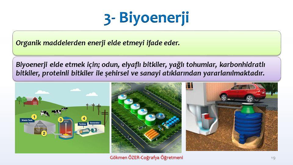 Organik maddelerden enerji elde etmeyi ifade eder.