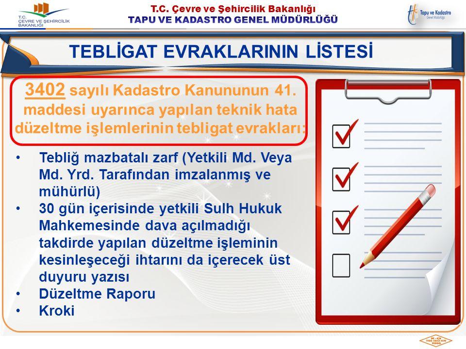 Tebliğ mazbatalı zarf (Yetkili Md. Veya Md. Yrd. Tarafından imzalanmış ve mühürlü) 30 gün içerisinde yetkili Sulh Hukuk Mahkemesinde dava açılmadığı t