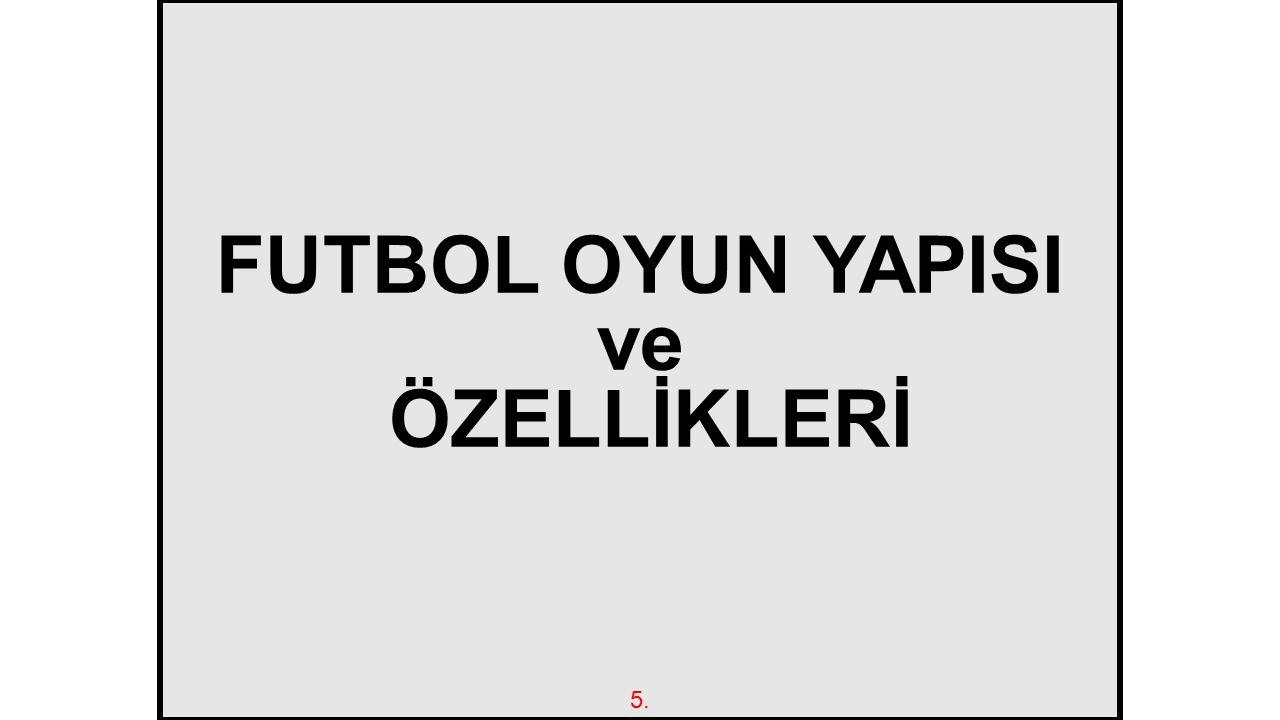 FUTBOL OYUN YAPISI ve ÖZELLİKLERİ 5.