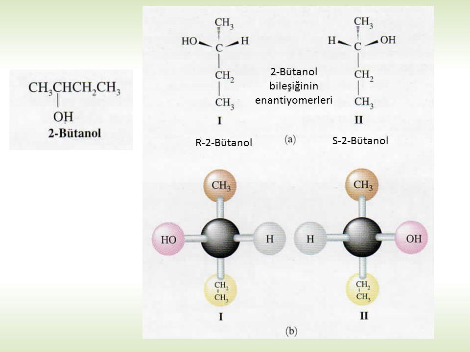 2-Bütanol bileşiğinin enantiyomerleri R-2-Bütanol S-2-Bütanol