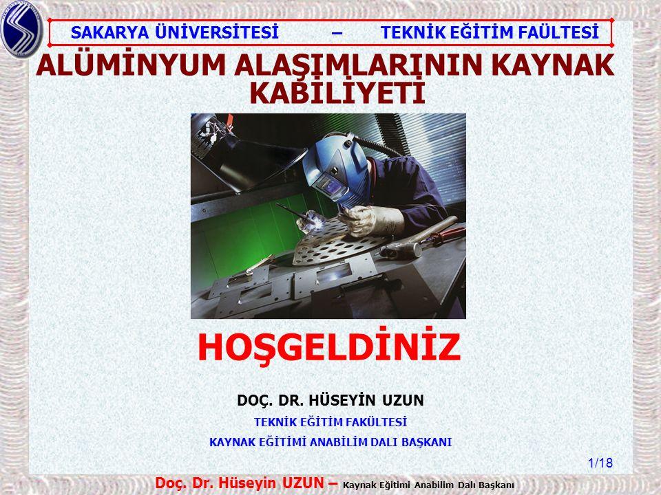 SAKARYA ÜNİVERSİTESİ – TEKNİK EĞİTİM FAÜLTESİ /18 Doç.
