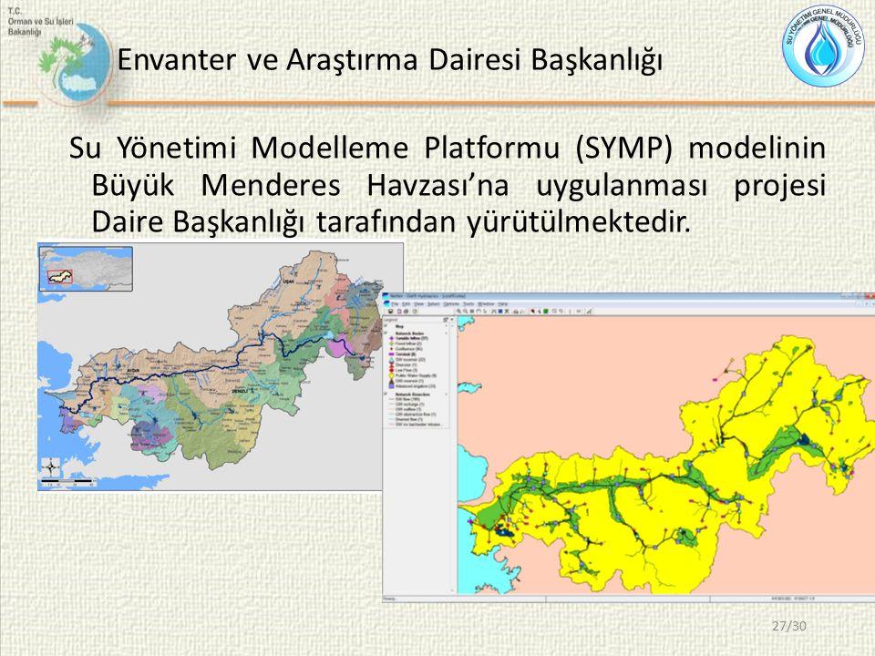 Envanter ve Araştırma Dairesi Başkanlığı Su Yönetimi Modelleme Platformu (SYMP) modelinin Büyük Menderes Havzası'na uygulanması projesi Daire Başkanlı