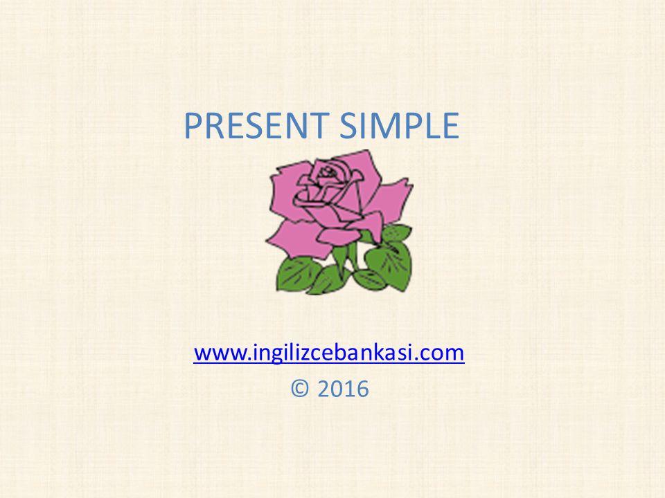 PRESENT SIMPLE www.ingilizcebankasi.com © 2016