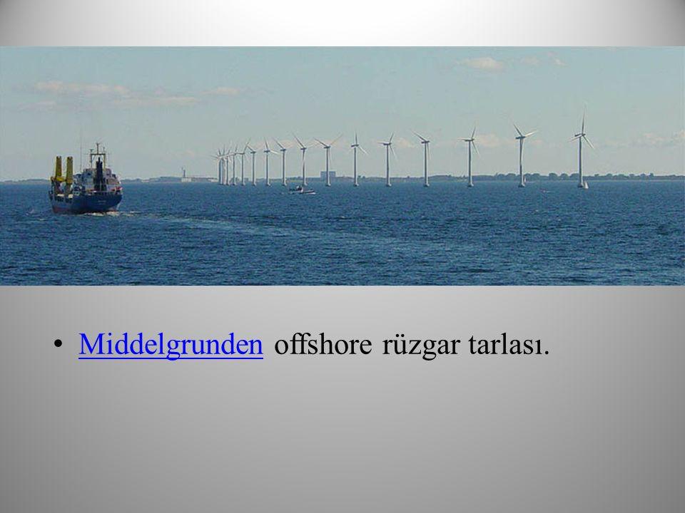 Middelgrunden offshore rüzgar tarlası. Middelgrunden