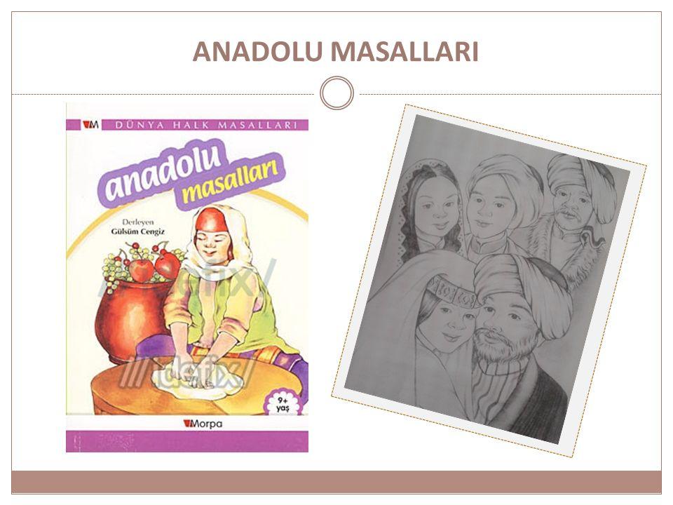 HAZIRLAYANLAR DERS: Çocuk Edebiyatı KONU: Anadolu Masalları Öğrenci adları………………