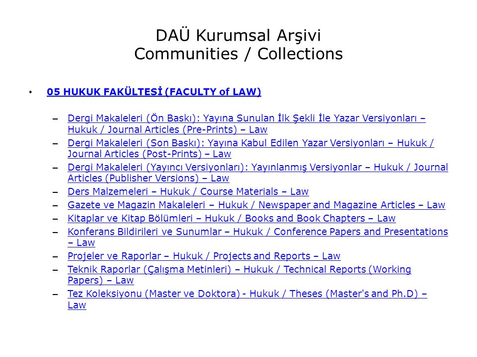 DAÜ Kurumsal Arşivi Communities / Collections 05 HUKUK FAKÜLTESİ (FACULTY of LAW) – Dergi Makaleleri (Ön Baskı): Yayına Sunulan İlk Şekli İle Yazar Versiyonları – Hukuk / Journal Articles (Pre-Prints) – Law Dergi Makaleleri (Ön Baskı): Yayına Sunulan İlk Şekli İle Yazar Versiyonları – Hukuk / Journal Articles (Pre-Prints) – Law – Dergi Makaleleri (Son Baskı): Yayına Kabul Edilen Yazar Versiyonları – Hukuk / Journal Articles (Post-Prints) – Law Dergi Makaleleri (Son Baskı): Yayına Kabul Edilen Yazar Versiyonları – Hukuk / Journal Articles (Post-Prints) – Law – Dergi Makaleleri (Yayıncı Versiyonları): Yayınlanmış Versiyonlar – Hukuk / Journal Articles (Publisher Versions) – Law Dergi Makaleleri (Yayıncı Versiyonları): Yayınlanmış Versiyonlar – Hukuk / Journal Articles (Publisher Versions) – Law – Ders Malzemeleri – Hukuk / Course Materials – Law Ders Malzemeleri – Hukuk / Course Materials – Law – Gazete ve Magazin Makaleleri – Hukuk / Newspaper and Magazine Articles – Law Gazete ve Magazin Makaleleri – Hukuk / Newspaper and Magazine Articles – Law – Kitaplar ve Kitap Bölümleri – Hukuk / Books and Book Chapters – Law Kitaplar ve Kitap Bölümleri – Hukuk / Books and Book Chapters – Law – Konferans Bildirileri ve Sunumlar – Hukuk / Conference Papers and Presentations – Law Konferans Bildirileri ve Sunumlar – Hukuk / Conference Papers and Presentations – Law – Projeler ve Raporlar – Hukuk / Projects and Reports – Law Projeler ve Raporlar – Hukuk / Projects and Reports – Law – Teknik Raporlar (Çalışma Metinleri) – Hukuk / Technical Reports (Working Papers) – Law Teknik Raporlar (Çalışma Metinleri) – Hukuk / Technical Reports (Working Papers) – Law – Tez Koleksiyonu (Master ve Doktora) - Hukuk / Theses (Master s and Ph.D) – Law Tez Koleksiyonu (Master ve Doktora) - Hukuk / Theses (Master s and Ph.D) – Law