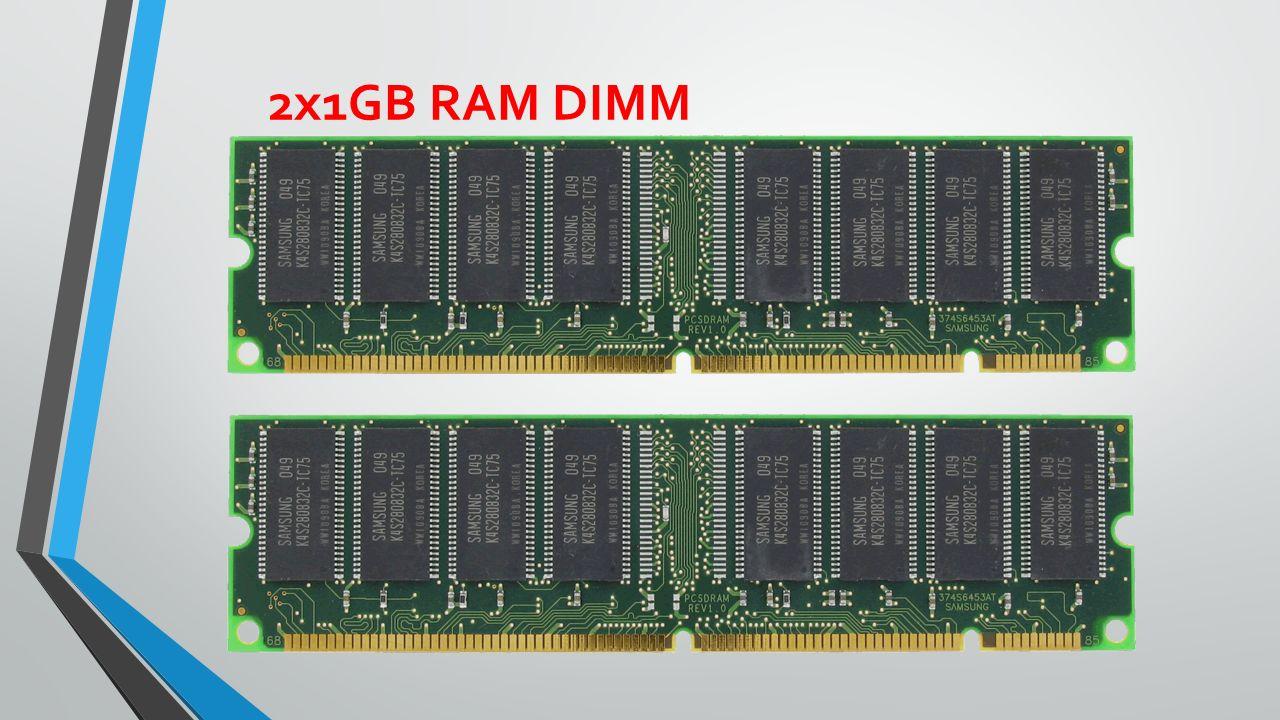 2x1GB RAM DIMM
