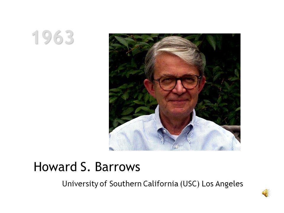 1963 1963 Howard S. Barrows University of Southern California (USC) Los Angeles