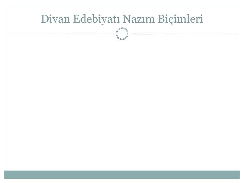 ŞARKI Türklerin bulduğu bir nazım biçimidir.Bestelenmek amacıyla yazılır.