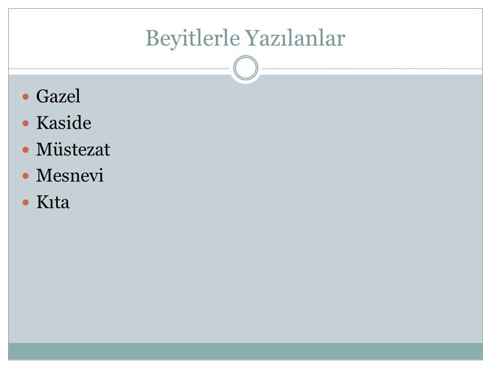 GAZEL Divan şiirinin en çok sevilen ve en çok yazılan nazım biçimidir.