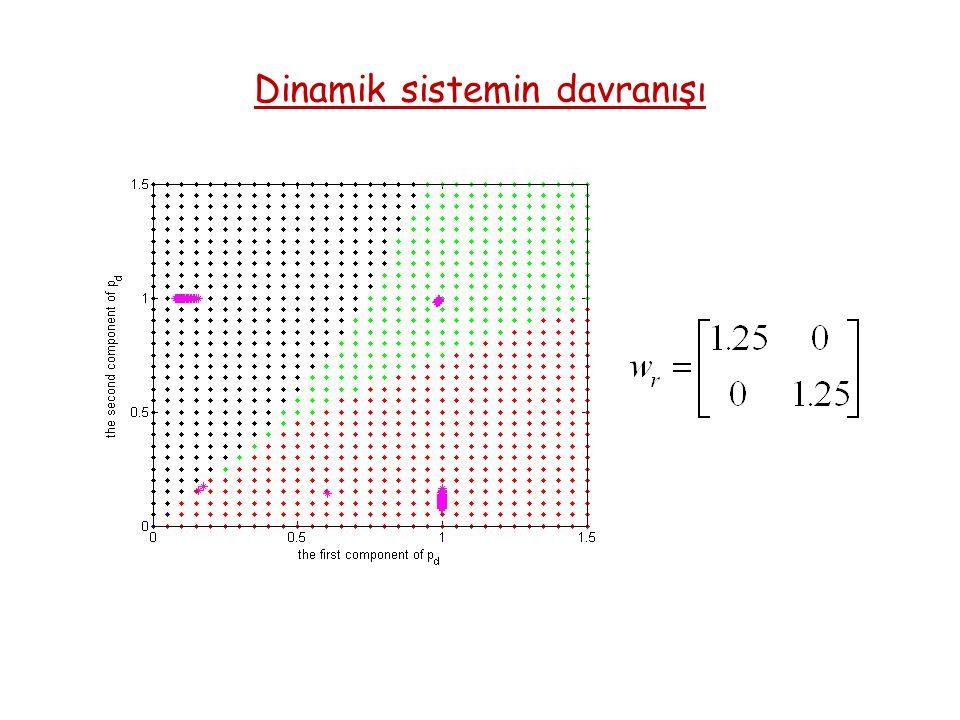 Dinamik sistemin davranışı