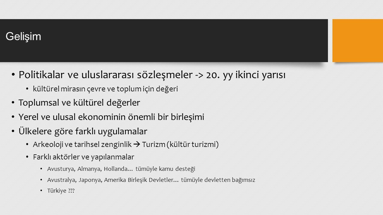BBY 467 Bilimsel ve Kültürel Mirasın Dijitalleştirilmesi Ders 2: Kültürel Mirasın Anlamı ve Yönetimi, Türkiye de Kültürel Miras Arş.