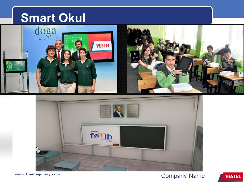 www.themegallery.com Company Name Smart Okul
