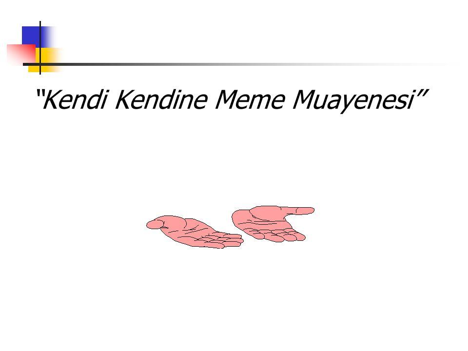 """""""Kendi Kendine Meme Muayenesi''"""