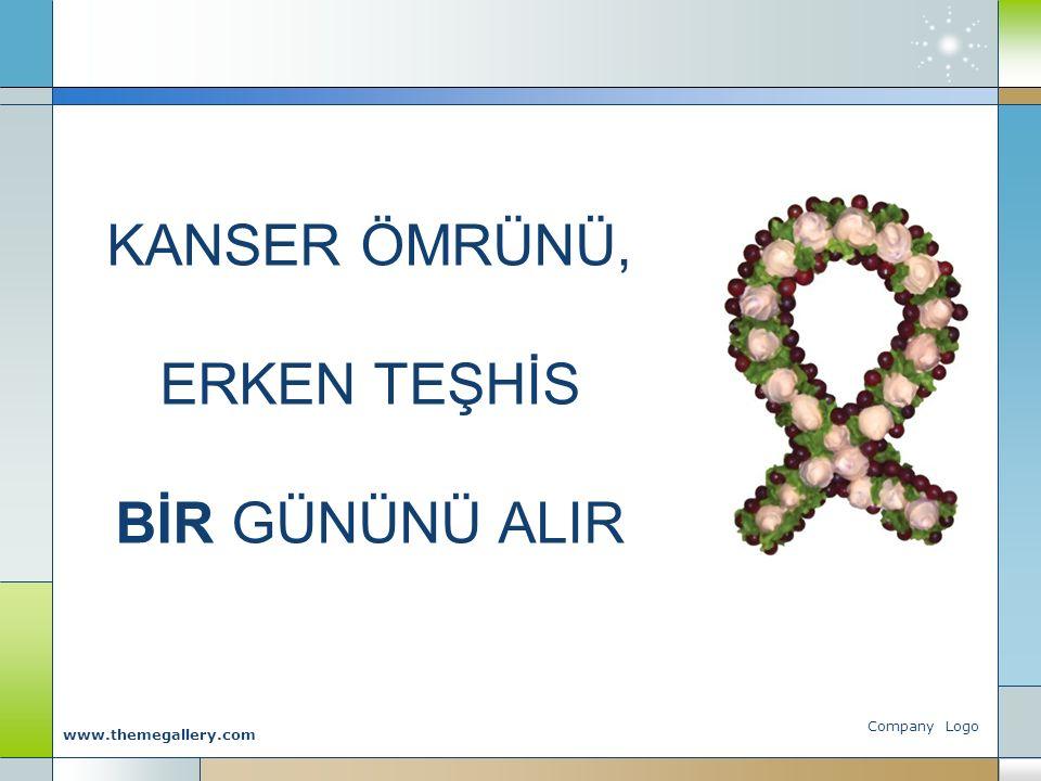 Company Logo www.themegallery.com KANSER ÖMRÜNÜ, ERKEN TEŞHİS BİR GÜNÜNÜ ALIR