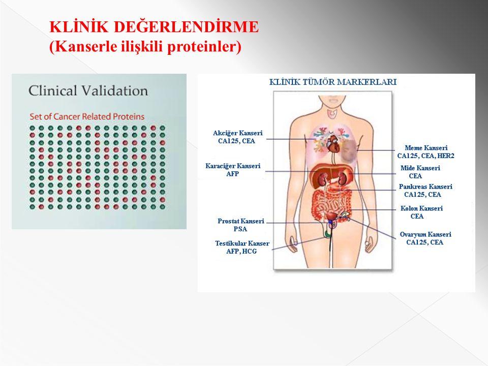 KLİNİK DEĞERLENDİRME (Kanserle ilişkili proteinler)