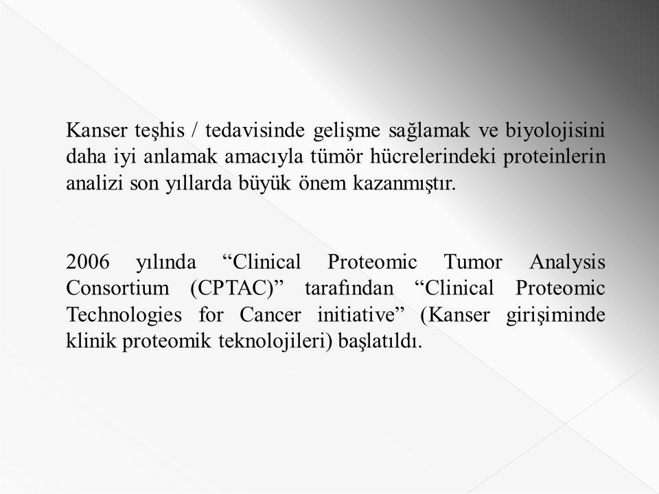 Kanser teşhis / tedavisinde gelişme sağlamak ve biyolojisini daha iyi anlamak amacıyla tümör hücrelerindeki proteinlerin analizi son yıllarda büyük önem kazanmıştır.
