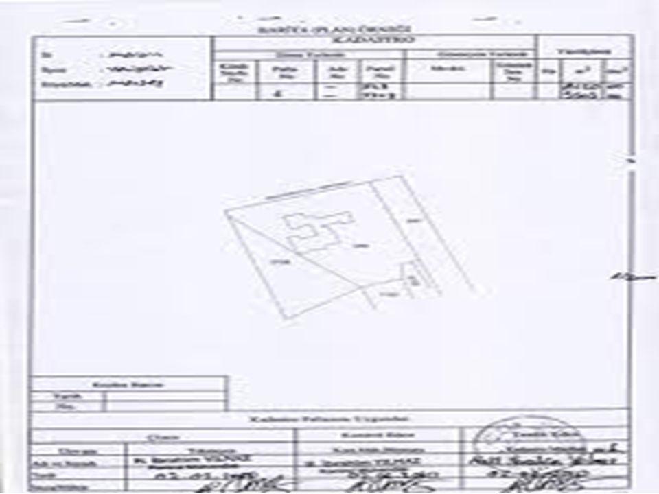 Parselin veya bağımsız bölümün bulunduğu yerin herhangi bir ölçme işlemi yapılmadan paftası ile vaziyet ve bağımsız bölüm planındaki şekil ve ölçü değerlerinden faydalanarak mahallinde ilgilisine gösterilmesidir.