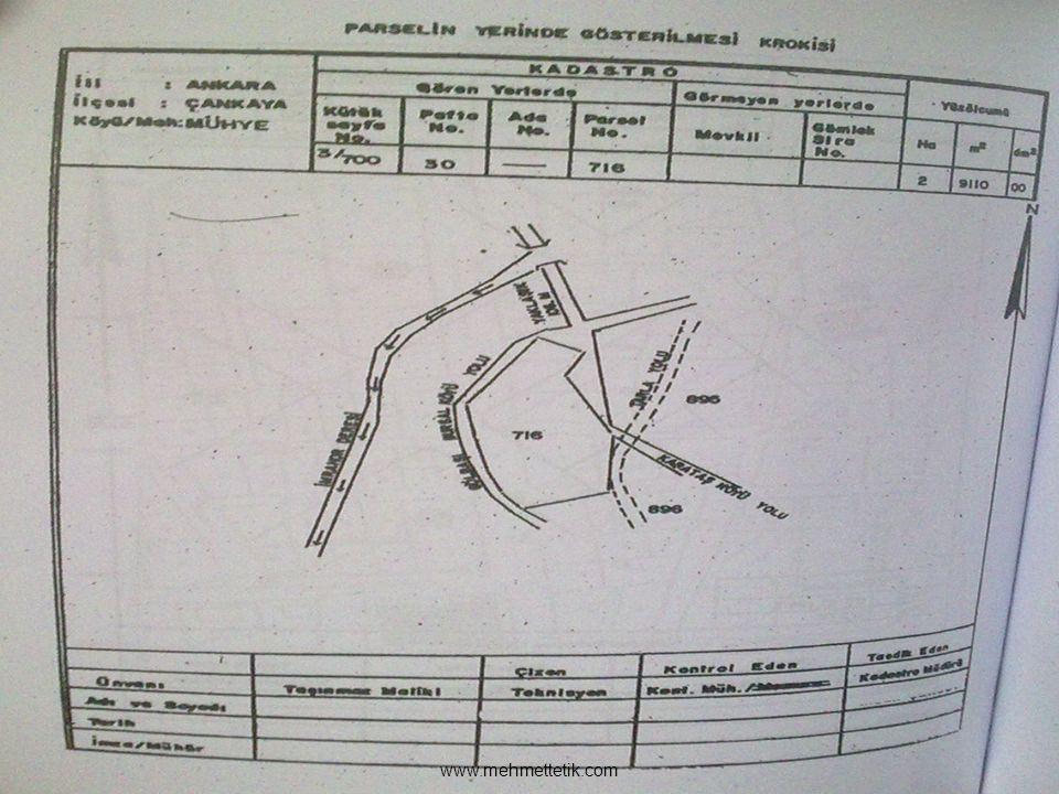 Aplikasyon tescilli haritalardaki parsel köşe noktalarının zeminde yeniden belirtilmesidir.