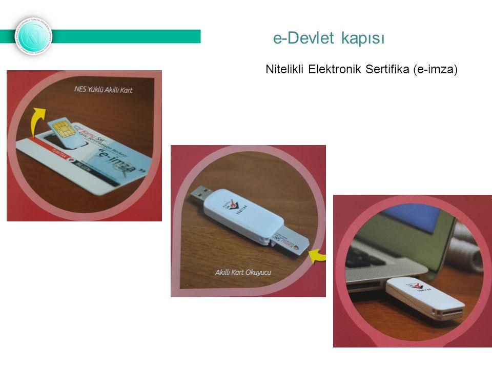 Nitelikli Elektronik Sertifika (e-imza)