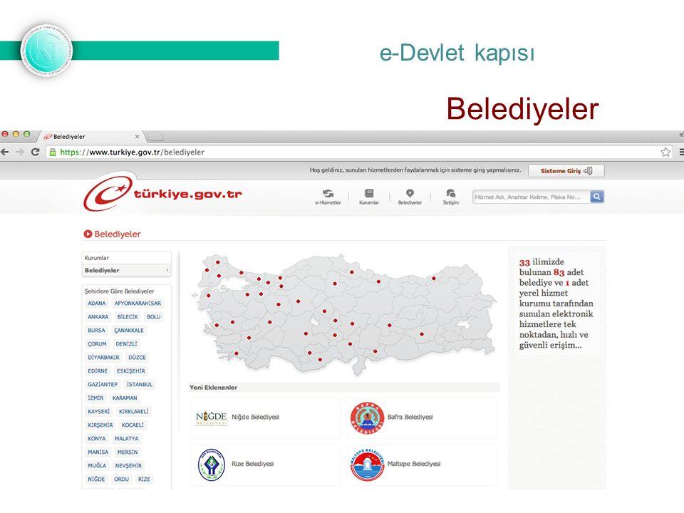 e-Devlet kapısı Belediyeler