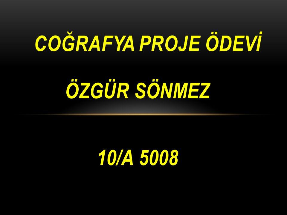 COĞRAFYA PROJE ÖDEVİ ÖZGÜR SÖNMEZ 10/A 5008