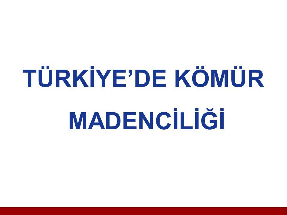 TÜRKİYE'DE KÖMÜR MADENCİLİĞİ