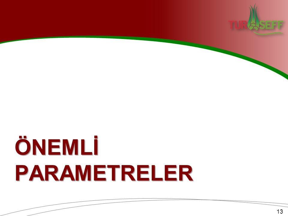 ÖNEMLİ PARAMETRELER 13