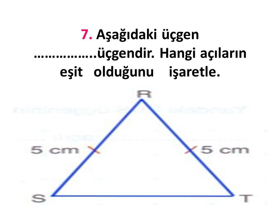 6.Aşağıdaki dik üçgenin C açısı kaç derecedir?