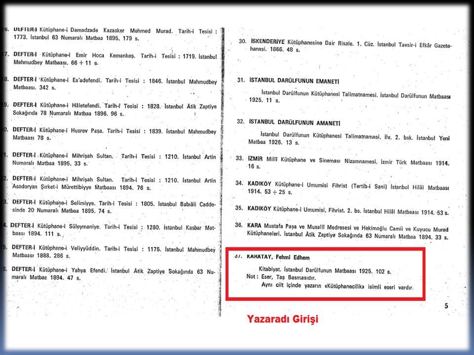 Arşivcilik Bibliyografyası (Türkçe ve yabancı dillerde yayınlanmış kaynaklar) 1979-1994.