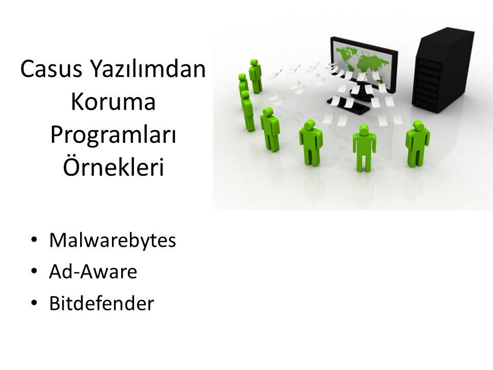 Casus Yazılımdan Koruma Programları Örnekleri Malwarebytes Ad-Aware Bitdefender