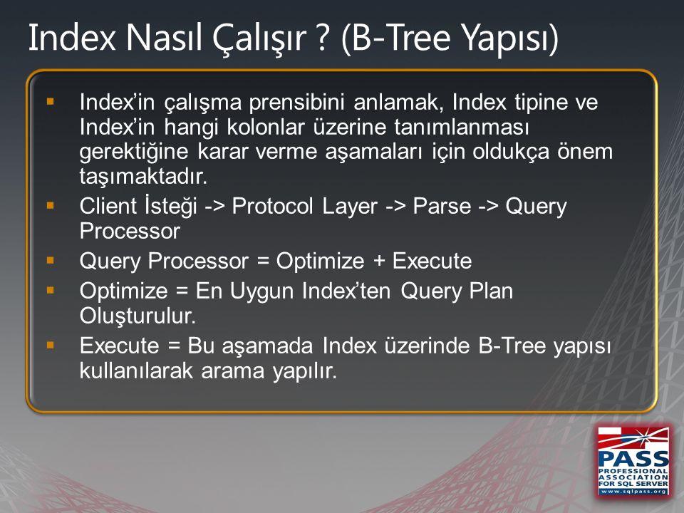  1 Level Root  1 veya 1'den fazla Intermediate Level  1 Level Leaf NonLeaf Level