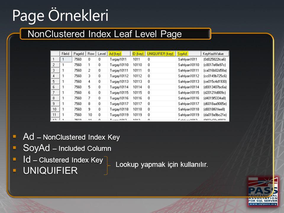  Canlı data üzerinde index B-Tree arama demosu