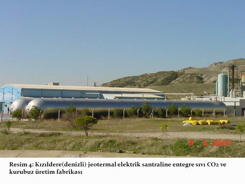 Resim 4: Kızıldere(denizli) jeotermal elektrik santraline entegre sıvı CO2 ve kurubuz üretim fabrikası