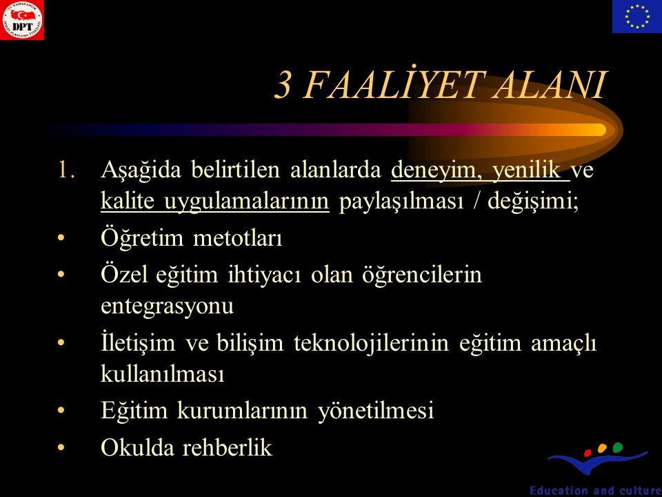 3 FAALİYET ALANI 2.