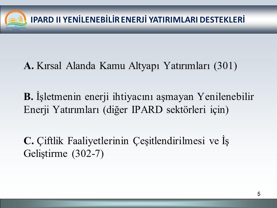 IPARD II YENİLENEBİLİR ENERJİ YATIRIMLARI DESTEKLERİ C.