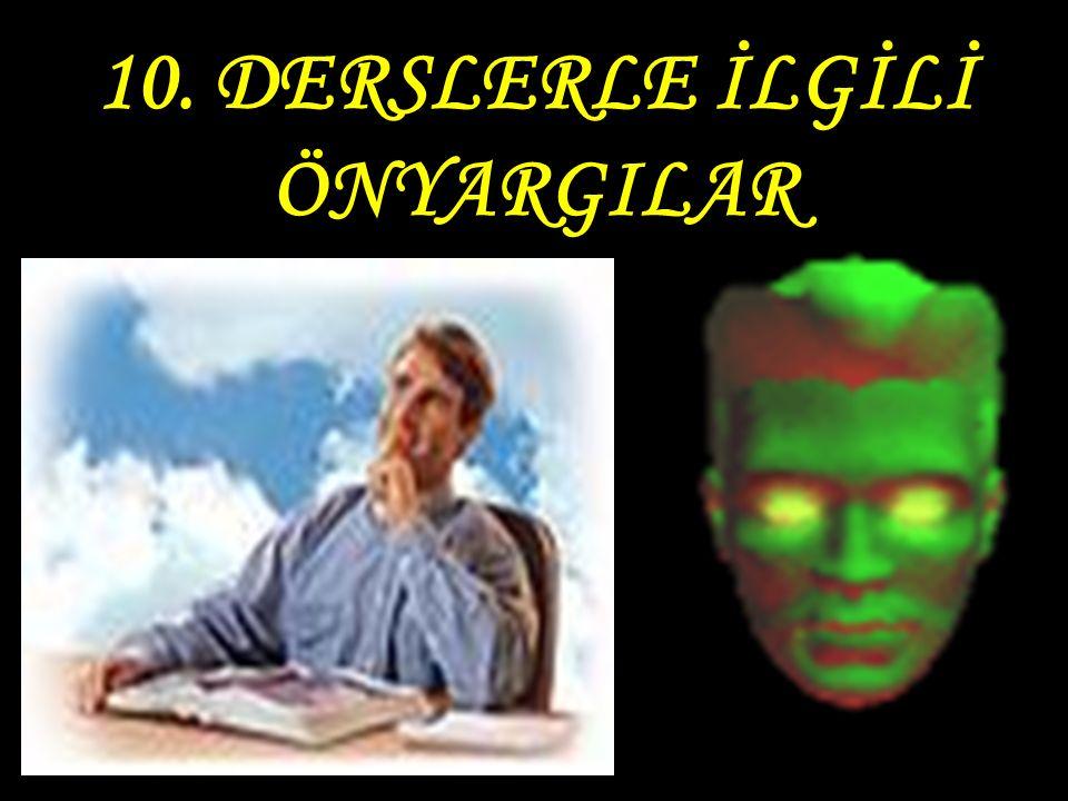 9. DERSLERDEN KORKMAK, ANLAYAMADIĞI DERSİ BIRAKMAK
