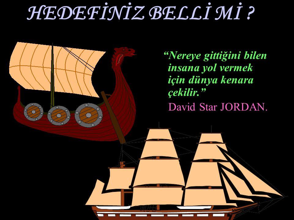 HEDEFİNİZ BELLİ Mİ .