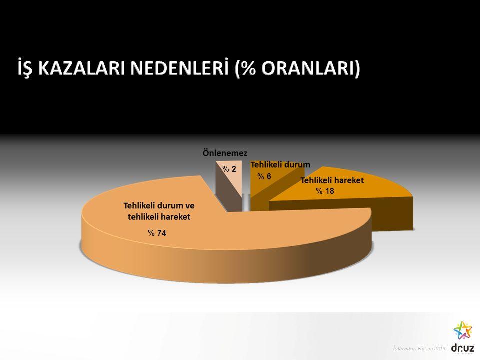 İş Kazaları Eğitimi-2013 % 18 % 2 % 6 % 74